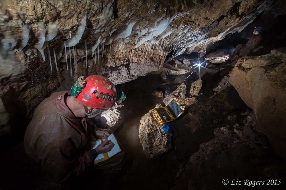Cave survey in progress